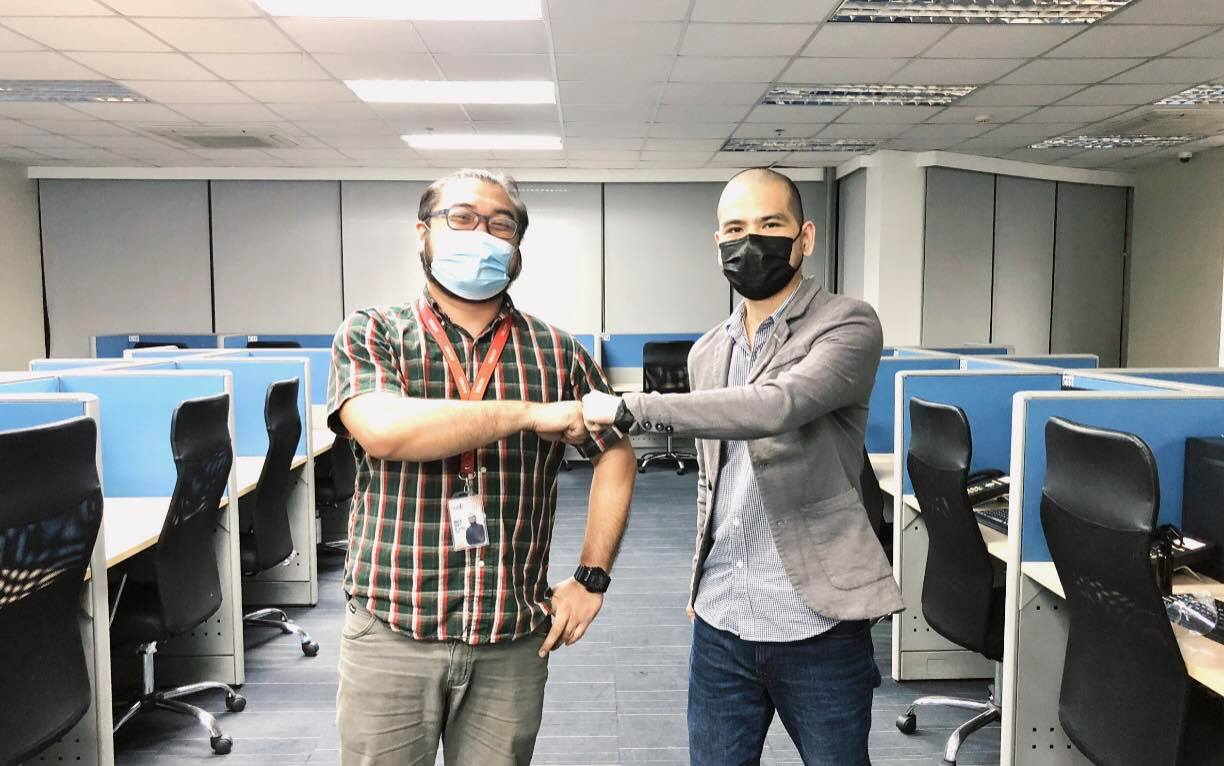 Photo above: (left) Bien dela Paz TRU29's Operations Department Head, and (right) Chip Mariano SOS Plus's COO